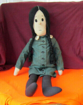 1961 Wednesday Cloth  Doll From The Addams Family by Aboriginals w/Tags & Ribbon