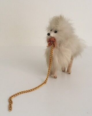 UNUSUAL Vintage German Dolls' Pet Dog On Lead
