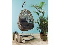 Rattan Hanging Egg Swing Chair - Indoor & Outdoor - New