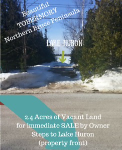Live by Lake Huron -- Build your Dream Home in Tobermory