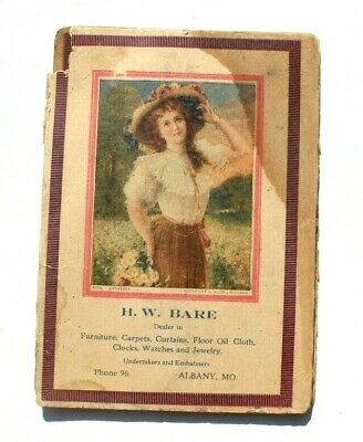 Antique Vtg Needle Book Sample Case Advertising H.W. Bare Furnish