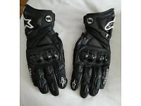 Alpinestar GP black leather gloves size Large