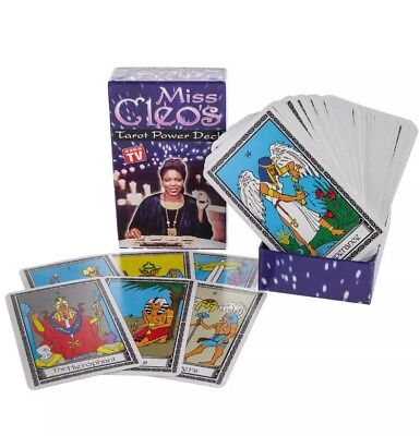 VINTAGE Psychic Miss Cleo's Tarot Power Deck -78 Egyptian tarot cards NEW SEALED