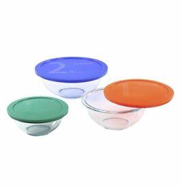 Pyrex Smart Essentials ^ PIece Glass Mixing bowl set