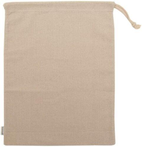 Augbunny 100% Cotton Canvas Travel Laundry Bag, 2-Pack (Large, Linen) 18X24