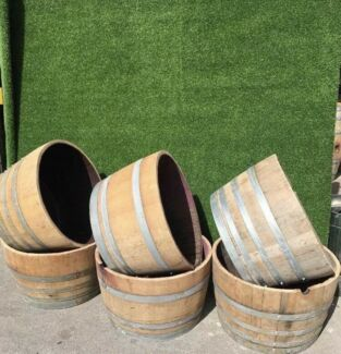 Half Wine Barrels - DELIVERED Brisbane