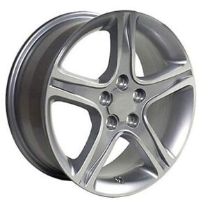 17-inch Aftermarket Wheels - Silver Machined Face 17x7 -Set of 4