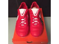 Men's Nike Premier II FG F/Boots BNWT Size 9.5 Red And White