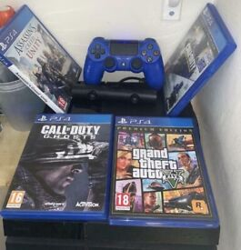 PS4 bundle open to offers ( games controllers wall mount thumb grips)