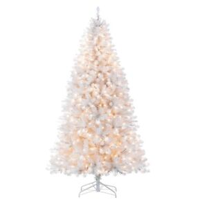 7 ft prelit white pine christimas tree. Only used once!