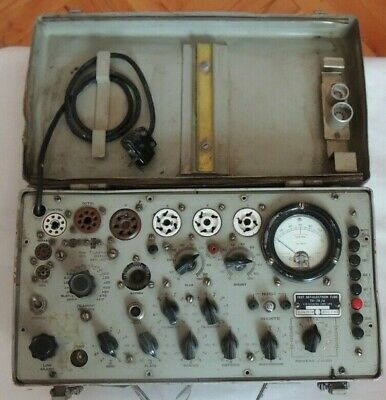 Tv 7 U Vintage Military Electron Tube Tester C.lorenz A.g Germany