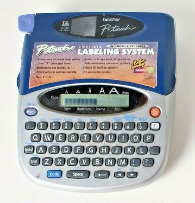 Brother Pt-1750 P-touch Label Maker Thermal Printer Home Office Tested And Works
