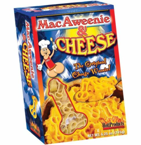 MACAWEENIE AND CHEESE~6.25 OZ~BACHELORETTE PARTY SUPPLIES~PECKER PASTA GAG GIFT