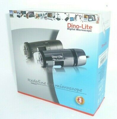 New Dino-lite Am4113ztlr4 Usb Digital Microscope 1280x1024 10x90x Polarizer