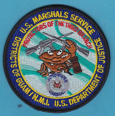 US MARSHALS  MARSHAL SERVICE DEPT OF JUSTICE GUAM  POLICE SHOULDER PATCH