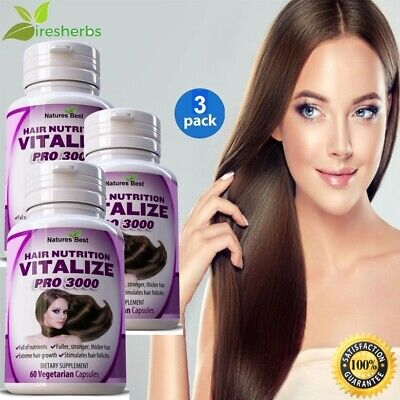 #1 BEST HAIR GROWTH LONGER THICKER FULLER ANTI LOSS NUTRITION GROW PILL 180