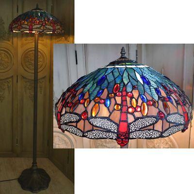Tiffany Stehlampe Dragobfly Libelle Glaslampe Tiffanylampe Lampe TC59-a
