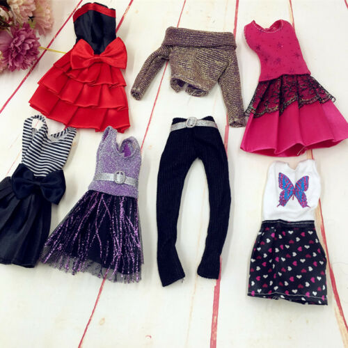 New 10Pcs Handmade Wedding Dress Party Gown Clothes Outfits For Doll Gift