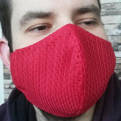 XL Coolmax® Mesh Arbeitsmaske 8⏱ Mundschutz maske rot atmungsaktiv sport büro