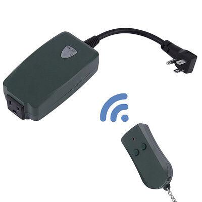 Outdoor Remote Control Outlet Wireless Light Switch Socket US Plug Waterproof EW