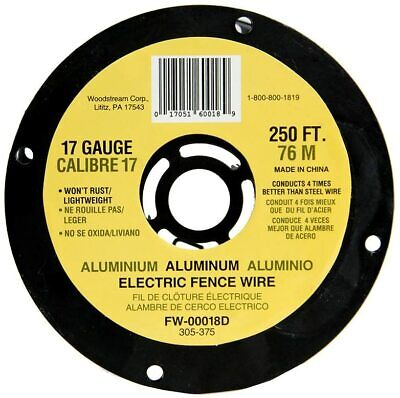 Electric Fence Wire 17 Gauge Spool 250 Feet Aluminum Fencing Fw-00018d 1 Pack Pc