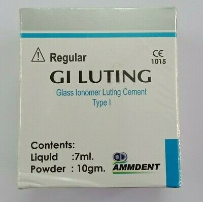 Permanent Dental Glass Ionomer Luting And Crown Bridge Veneer Fixing Cement.