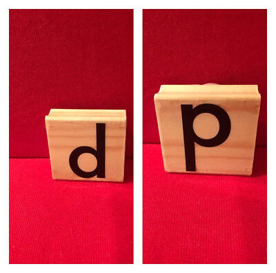 Lowercase letters b OR p stamp monogram alphabet Words Phrases Quotes Crafts New - Lowercase B