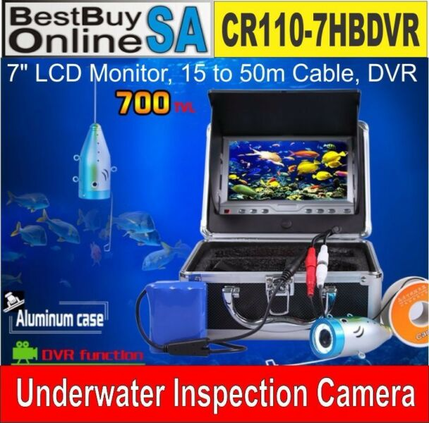 CD110-7LS Underwater Camera System - Fishing Monitoring with 15m to 30m Cable & DVR function