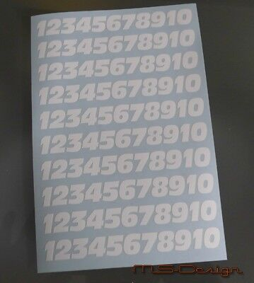 (100 Stück 1,4 cm) Klebezahlen ,Aufkleber    Antolni weißNeu