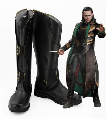 Thor Loki Cosplay Costume Kostüme Schuhe Shoes Stiefel boot The Dark World Neu