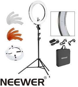 "NEW Neewer 18"" LED Ring Light Dimmable KIT II"