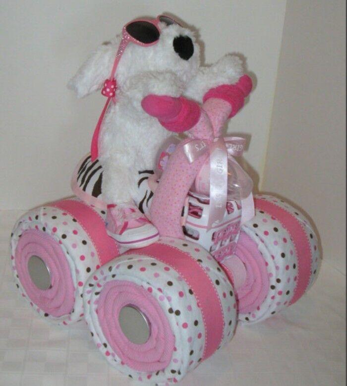 baby diaper cake motorcycle girls