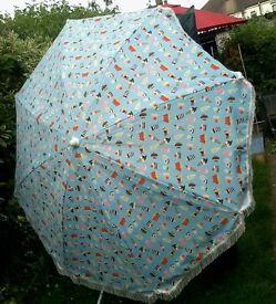 "Garden Parasol Ice-Cream Patter (Approx) 6'3"" Wide"