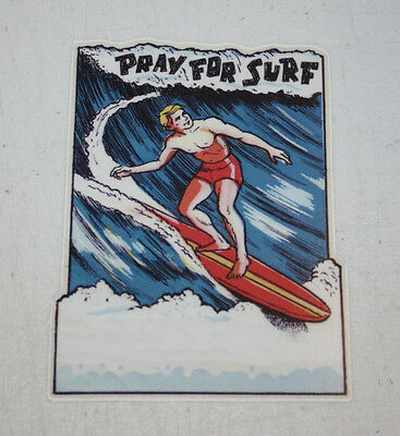 """Praying Hands sticker decal pray for me skate surf surfing aircooled gold 3.5/"""""""