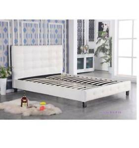 ON SALE!!!!!! Heborn Leather Looking Bed Frame ( 4 Sizes )