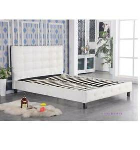 ON SALE!!!!!! Heborn Leather Looking Bed Frame ( 3 Sizes )