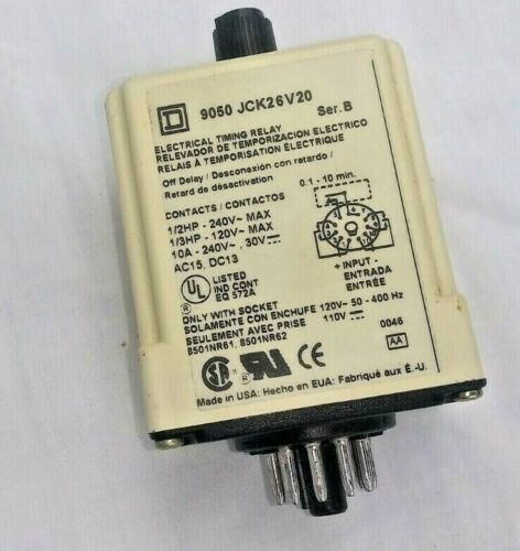 Square D 9050 JCK26V20 Electrical Timing Relay