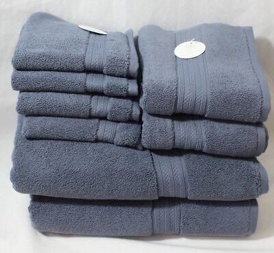 Inn Balfour Spa Bath Collection Eight Piece Turkish Towel Set Dusty Lewd New