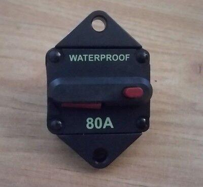 Disyuntor 80A 42VDC fusible automático seguridad eléctrica waterproof