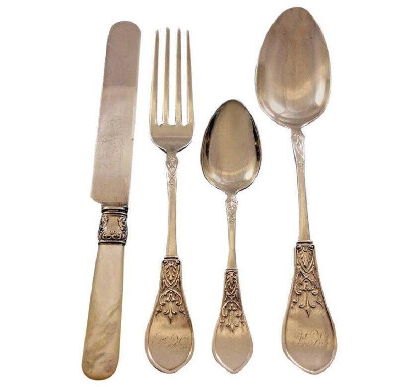 "Gem by Schulz /& Fischer Sterling Silver Teaspoon 6/"" Rare California Silver"
