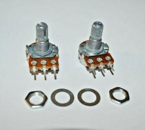 2Pcs Potentiometers A50K 15mm shaft