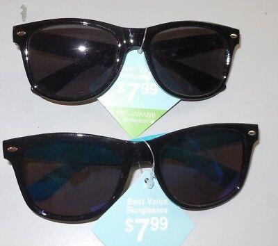 2 Pair Sunglasses FGX Black Frames Best Value 100% UVA-UVB Protection Lot (Best Mens Frames)