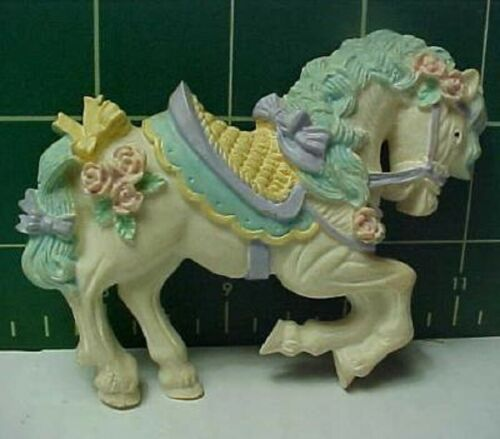 Vintage Pastel Decorated Horse Lenox-like Refrigerator Magnet