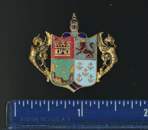 1893 Columbian Exposition Coat Of Arms Pinback To Benefit The Teachers Fund