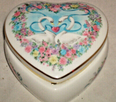 Vintage Jewelry Box Heart Shaped