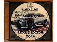 2007 2008 2009 LEXUS ES350 ES 350 FACTORY REPAIR SERVICE WORHSHOP MANUAL CD