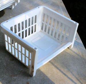 Large Stackable Storage Bins - 8 in total