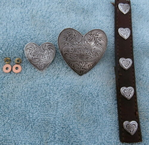Victor Heart Sterling Buckle Ear Piece 5 Small Sterling Hearts