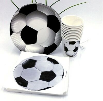 40pcs Football Soccer Party Tableware Decoration Paper Plate Cup Tissue Decor (Soccer Plates)