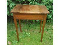 Vintage/Retro single wooden desk with storage inside
